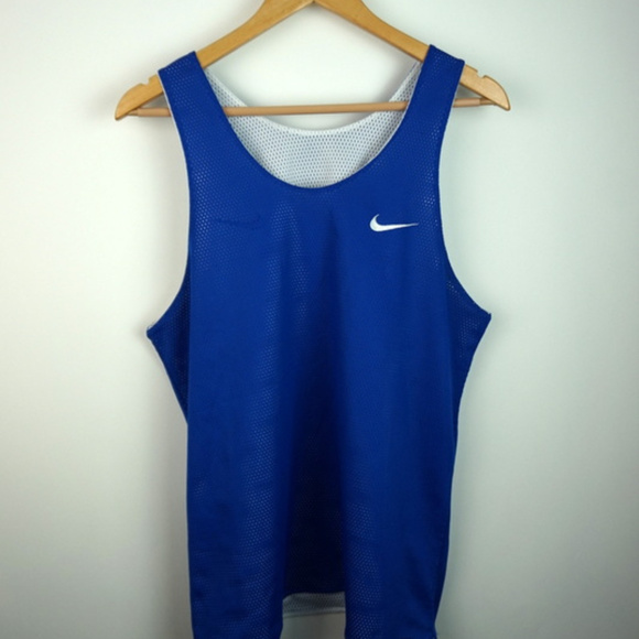 2736fb9cb4af5 VTG 90s Nike Reversible Jersey Blue / White Medium